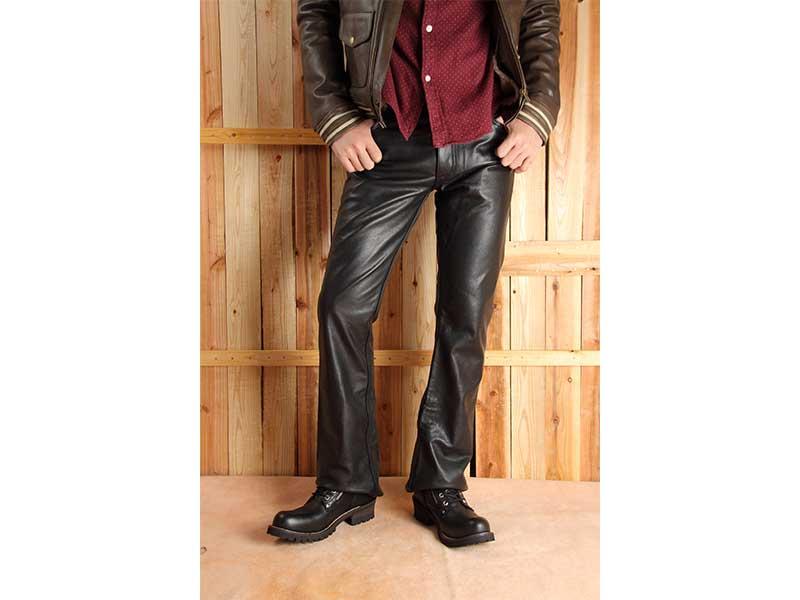 !※期間限定※ ! 【DEGNER】 デグナー レザーパンツ ブーツカット ブラック 【DP-11A】