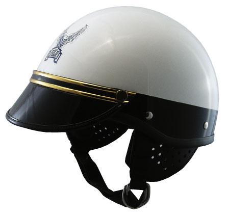 コミネ (KOMINE) FUJI300Aヘルメット USポリス (ゴールドモール) (装飾用バイザー付き) (01-151、01-155GD)