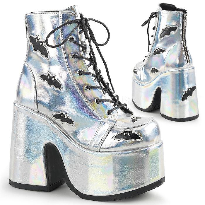 取寄せ靴 送料無料 PLEASER プリーザー ブーツ 12.5cmヒール 大きいサイズあり イベント セクシー サンタ 女装 パーティ- クリスマス コスプレ 衣装 シューズ