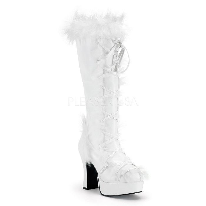 取寄せ靴 送料無料 PLEASER プリーザー ブーツ 10cmヒール 大きいサイズあり イベント セクシー サンタ 女装 パーティ- クリスマス コスプレ 衣装 シューズ