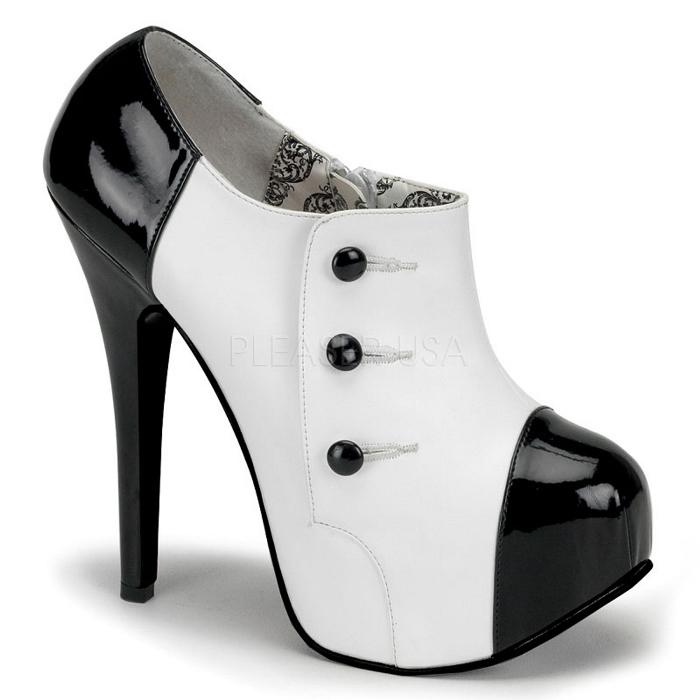 取寄せ靴 送料無料 PLEASER プリーザー ブーツ 14.5cmヒール 大きいサイズあり イベント セクシー サンタ 女装 パーティ- クリスマス コスプレ 衣装 シューズ