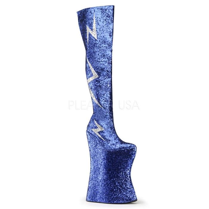 取寄せ靴 送料無料 PLEASER プリーザー ブーツ 34.5cmヒール 大きいサイズあり イベント セクシー サンタ 女装 パーティ- クリスマス コスプレ 衣装 シューズ