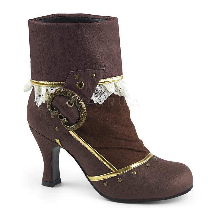 取寄 靴 送料無料 PLEASER プリーザー ブーティー 7.5cmヒール 大きいサイズあり イベント セクシー サンタ 女装 パーティ- クリスマス コスプレ 衣装 シューズ