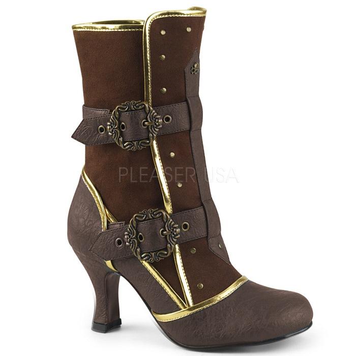 取寄せ靴 送料無料 PLEASER プリーザー ブーツ 7.5cmヒール 大きいサイズあり イベント セクシー サンタ 女装 パーティ- クリスマス コスプレ 衣装 シューズ