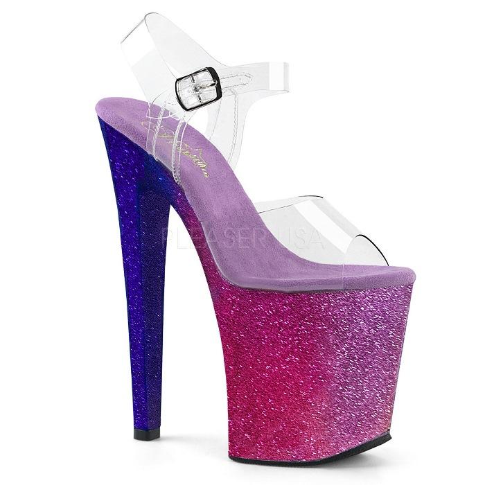 取寄せ靴 送料無料 PLEASER プリーザー サンダル 20.5cmヒール 大きいサイズあり イベント セクシー サンタ 女装 パーティ- クリスマス コスプレ 衣装 シューズ