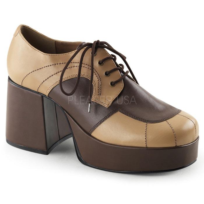 取寄 靴 FUNTASMA ファンタズマ オックスフォード シューズ メンズ 9cm ヒール タン 茶 ブラウン 大きいサイズあり 26 26.5 27 27.5 28 28.5 29 29.5 30 30.5 31 31.5 32 cm センチ