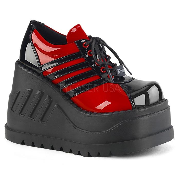 取寄 靴 DEMONIA デモニア パンプス 黒 ブラック 赤 レッド 大きいサイズあり 22.5 23 23.5 24 24.5 25 25.5 26 26.5 27 cm センチ