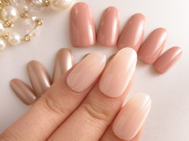 Dinanail Nail Tip No Beige Series With Nail Art Please Try It