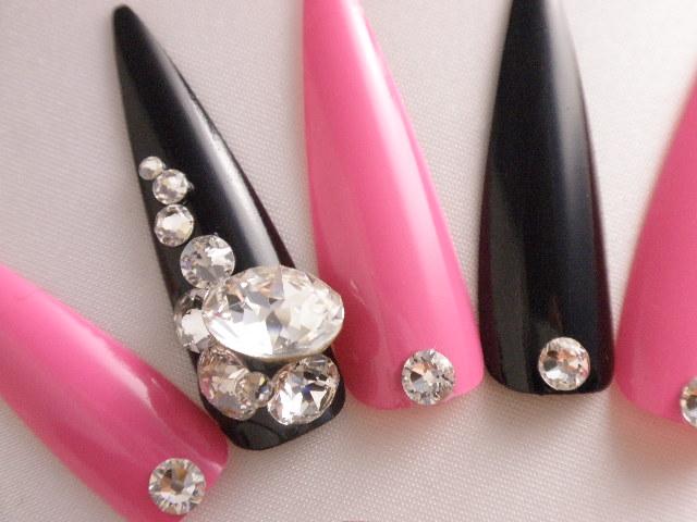 DINANAIL | Rakuten Global Market: Black silver ring Swarovski Vcut ...