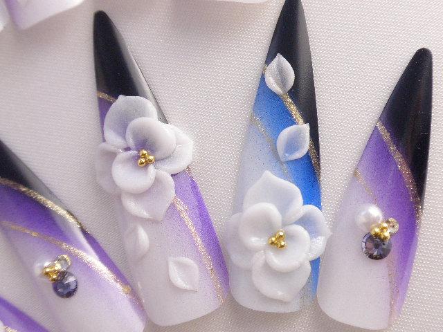 DINANAIL | Rakuten Global Market: Japanese flower design long nail ...
