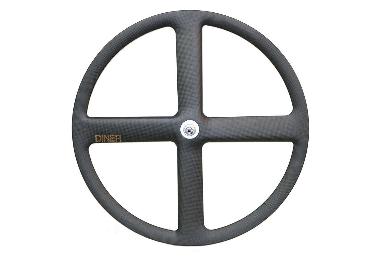 ピストバイク ホイール DINER ダイナー 4SPOKE CARBON CLINCHER WHEEL FRONT フォーバトン カーボン クリンチャー ホイール フロントPISTBIKE