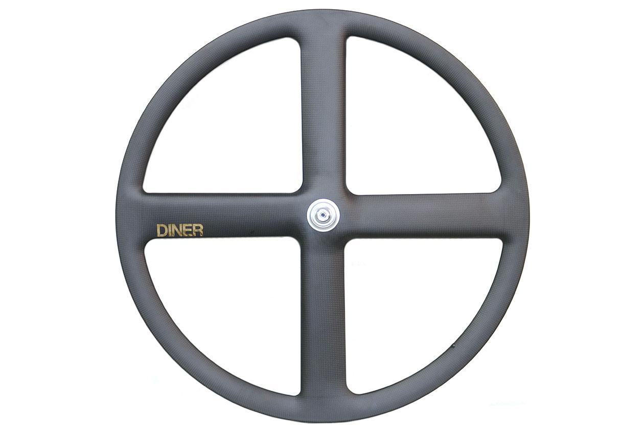 ピストバイク ホイール DINER ダイナー 4SPOKE CARBON CLINCHER WHEEL REAR フォーバトン カーボン クリンチャー ホイール リアPISTBIKE