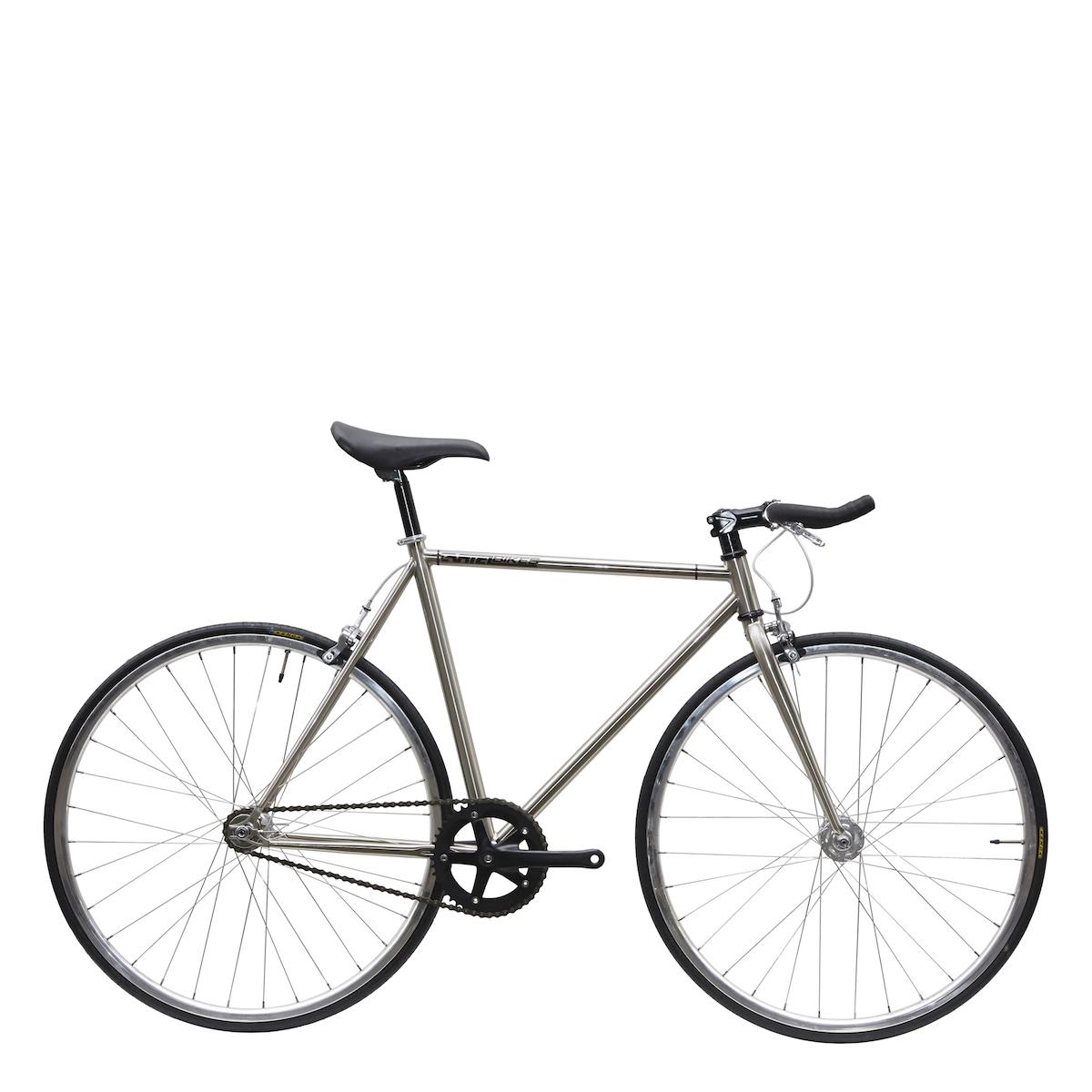 ピストバイク 完成車 カーテルバイク CARTEL BIKE AVENUE LO CHROME SILVER PARTS 【自転車 バイク スポーツバイク 完成品 クロモリ 軽量 カスタム カスタムバイク ベース フリーギア 固定ギア 初心者 シンプル おしゃれ 銀 シルバー】