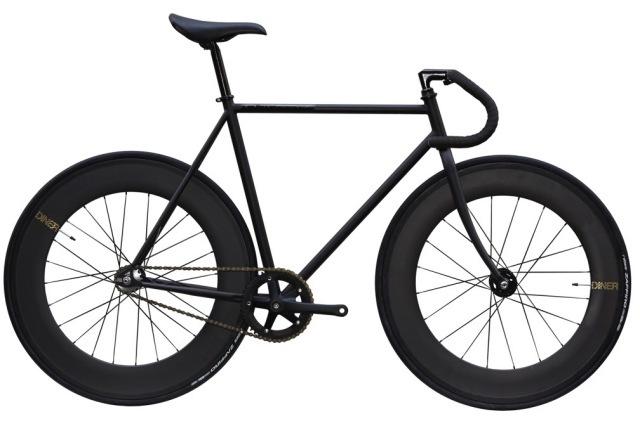 ピストバイク 完成車 CARTEL BIKES AVENUE MAT BLACK DINER FRONT&REAR 88mm CARBON WHEEL CUSTOM【カーテルバイク アベニュー マットブラック】