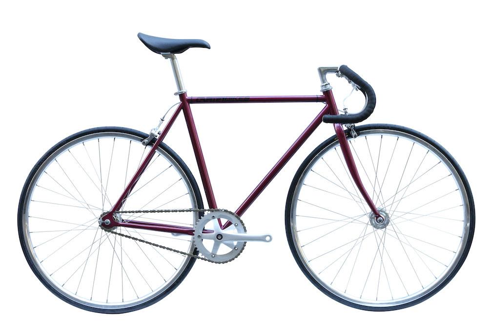 ピストバイク 完成車 カーテルバイク CARTEL BIKE AVENUE BORDEAUX 【自転車 バイク スポーツバイク 完成品 クロモリ 軽量 カスタム カスタムバイク ベース フリーギア 固定ギア 初心者 シンプル おしゃれ ボルドー】
