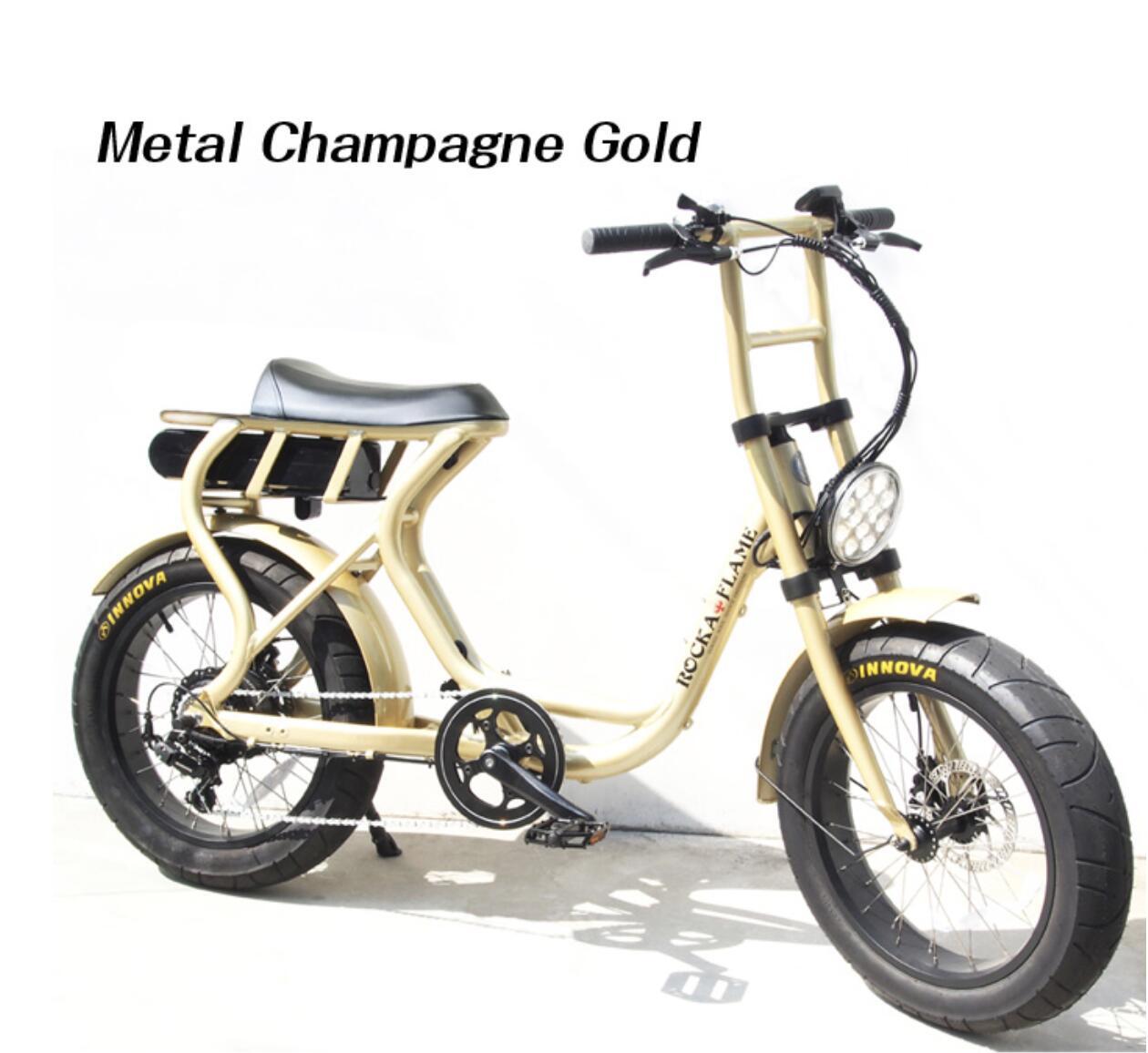 電動アシスト付き自転車 e-BIKE ROCKA FLAME FUMA 1907BGR02TB メタルシャンパンゴールド【自転車 バイク 電動アシスト付き自転車 イーバイク シンプル おしゃれ】