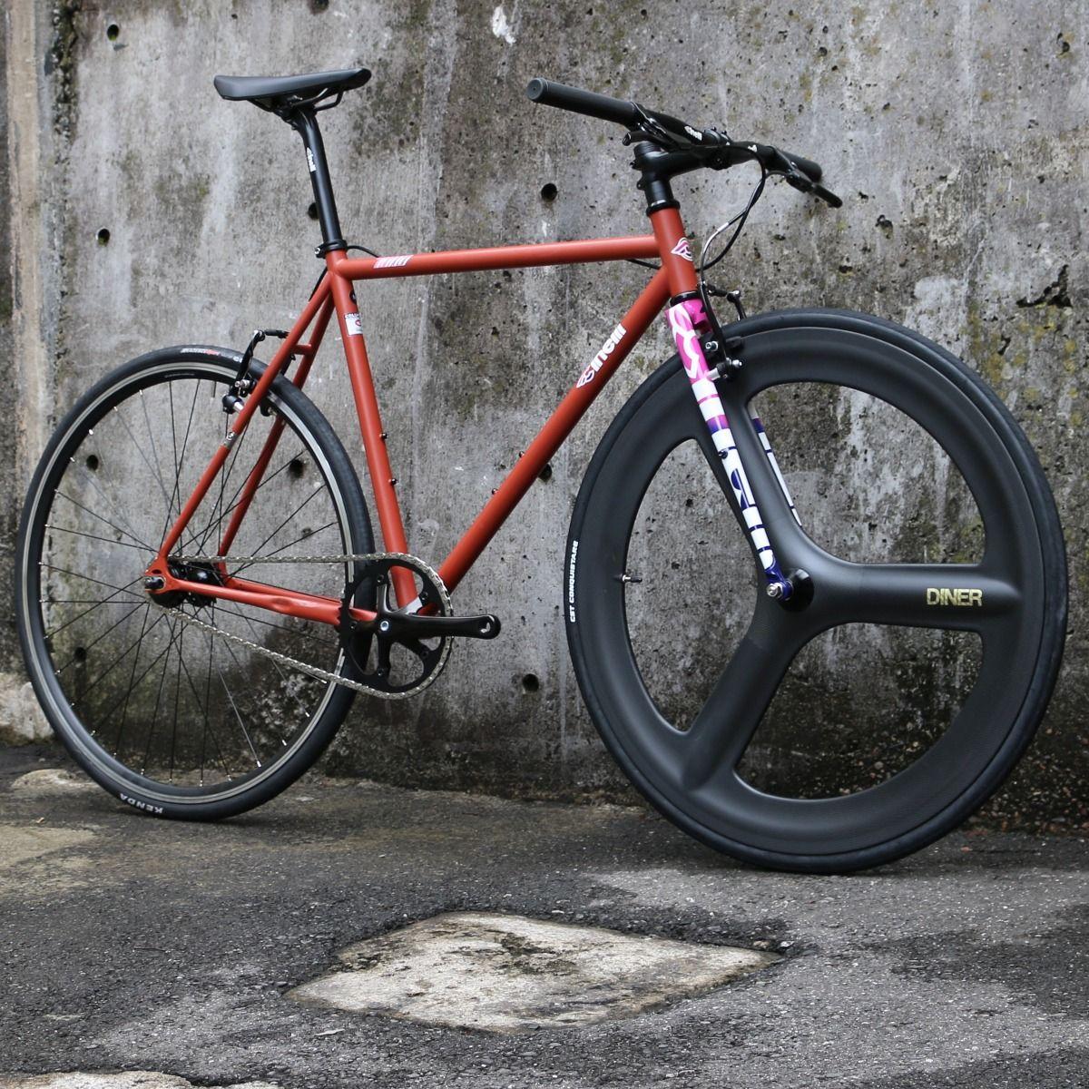 ピストバイク 完成車 CINELLI TUTTO 3SPOKE CARBON CUSTOM ダイアモンド&ラストPISTBIKE