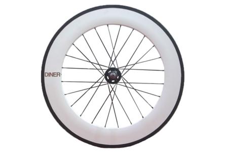 ピストバイク ホイール DINER ダイナー 88mm CARBON CLINCHER WHEEL WHITE REAR 88mm カーボン クリンチャー ホイール ホワイト リアPISTBIKE