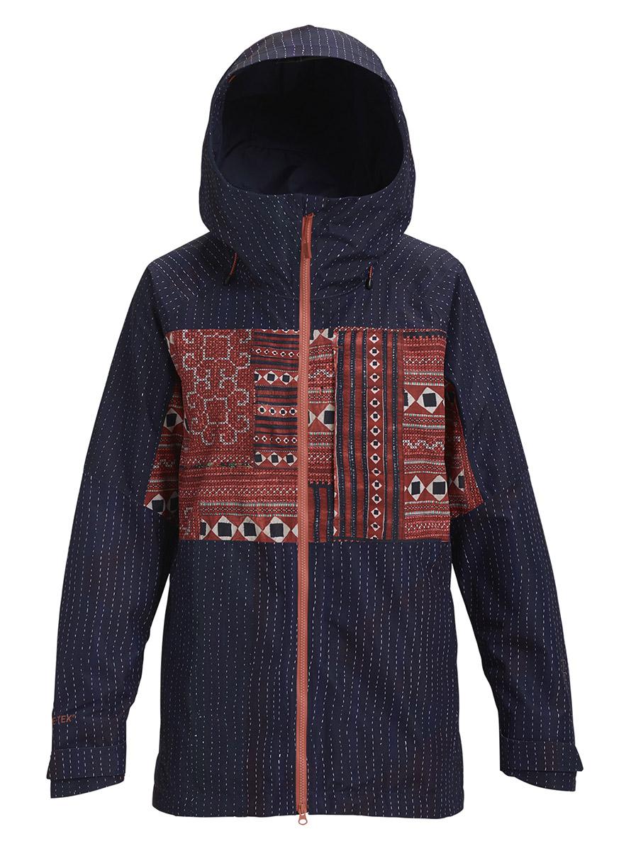 バートン 19モデル ウィメンズ ウェア Burton [ak] GORE-TEX 2L Blade jacket Blue Kimono / Red Kimono スノーボード