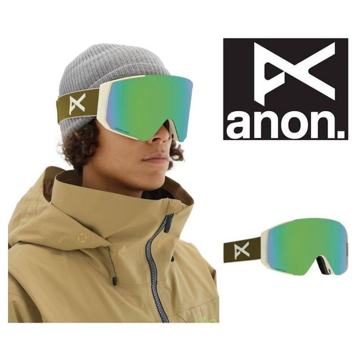 【日本正規品】ANON アノン メンズ ゴーグル ASIAN FIT SYNC OLIVE/SONARGREEN アジアン フィット エスワイエヌシー オリーブ ソナーグリーン スノーボード 2020年モデル