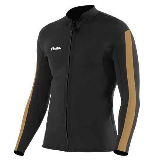 【VISSLA・ヴィスラ】GADOO FRONT ZIP BLK / ガドガドー フロントジップジャケット ブラック Mサイズ