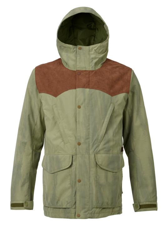 バートン 18モデル メンズ ウェア Burton Folsom Jacket Chestnut Suede / Olive Branch Distress スノーボード
