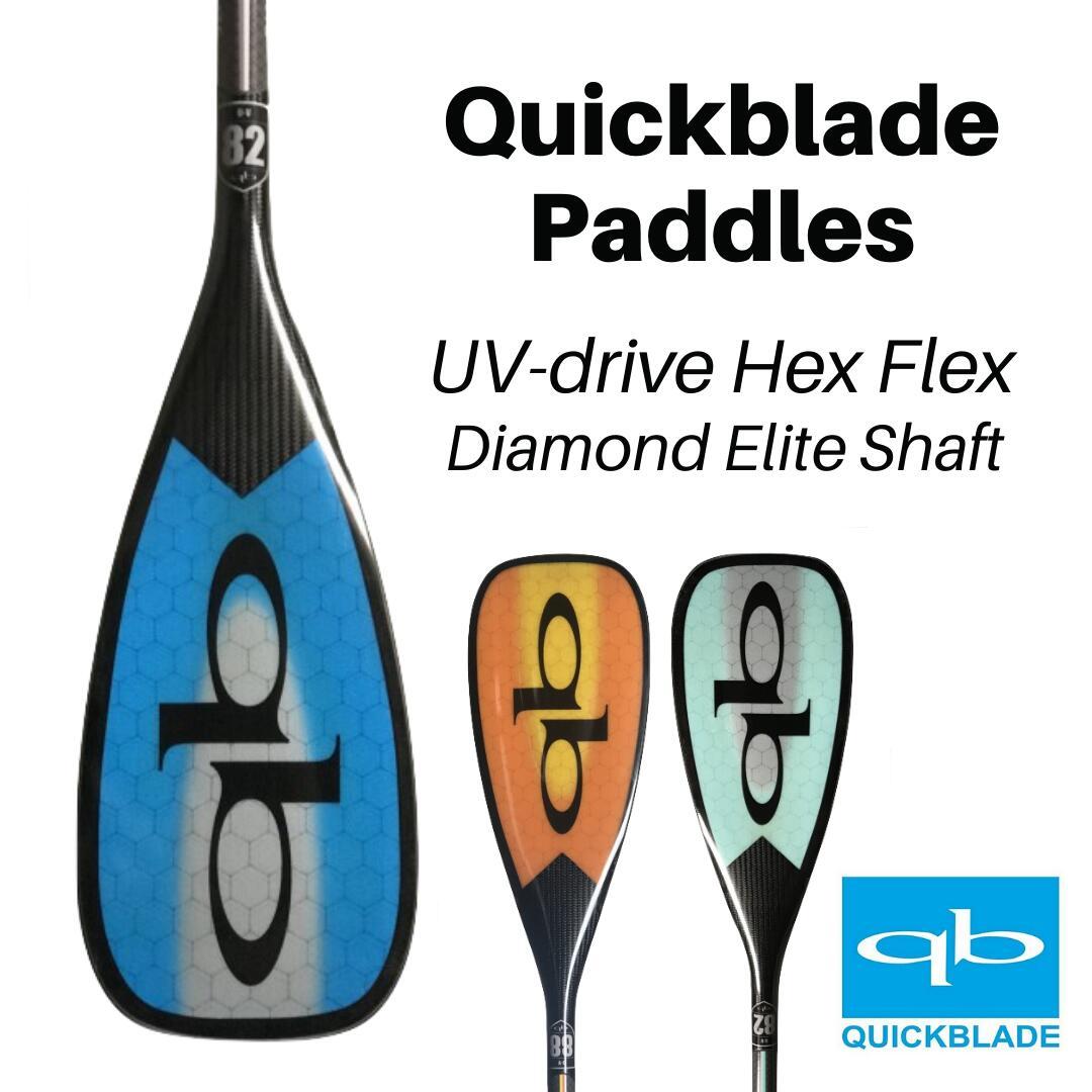 超可爱 V-Drive パドル クイックブレード Tiffany Hex カーボン paddle Blade】2020 【Quick Flex サップ SUP Blue Grey 軽量 Light Ultimate-マリンスポーツ