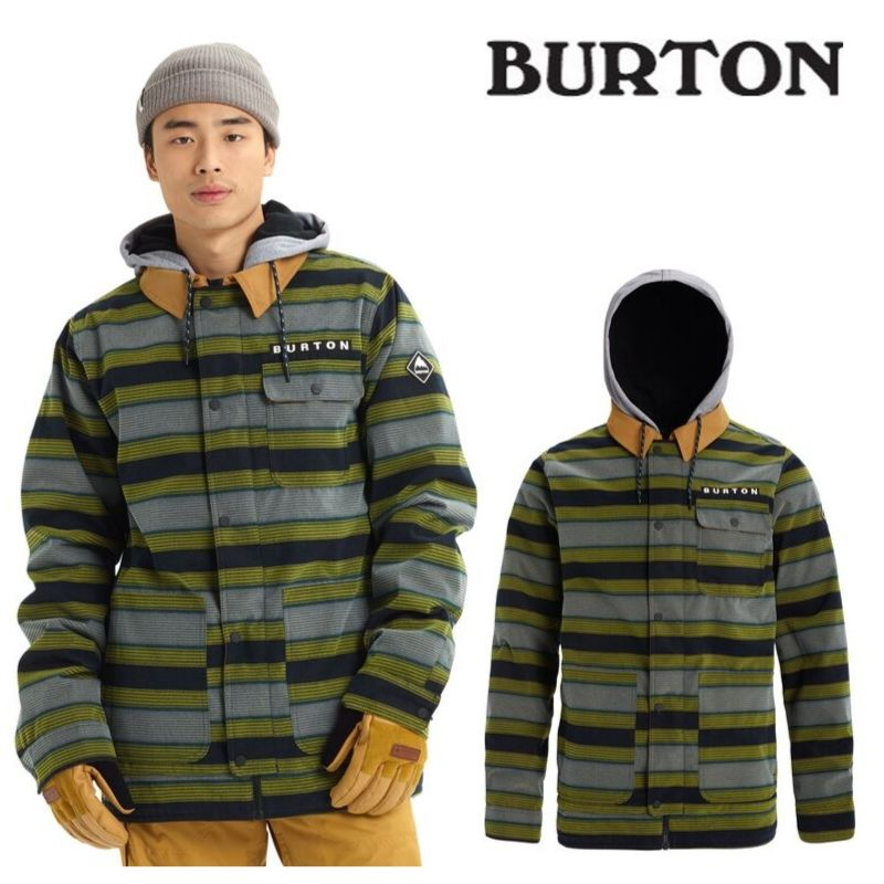 【日本正規品】バートン 2020モデル メンズ ウェア Burton Dunmore Jacket Maize Sap Stripe スノーボード