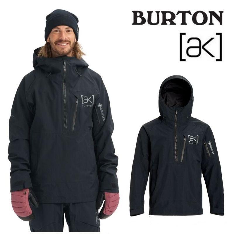【日本正規品】 バートン 2020年モデル メンズ ウェア Burton [ak] GORE-TEX Velocity Anorak Jacket TRUE BLACK スノーボード アノラック ジャケット 黒