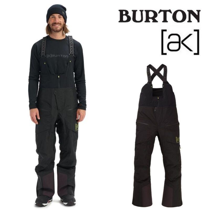 【日本正規品】 バートン 2020年モデル メンズ ウェア Burton [ak] GORE-TEX GORE-TEX 3L PRO Tusk Hi-Top Pant True Black スノーボード ビブパンツ 黒