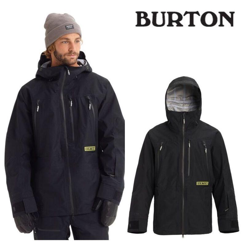 【日本正規品】 バートン 2020モデル メンズ ウェア Burton GORE-TEX 3L Frostner Jacket True Black スノーボード ゴアテックス フロストナー ジャケット 黒