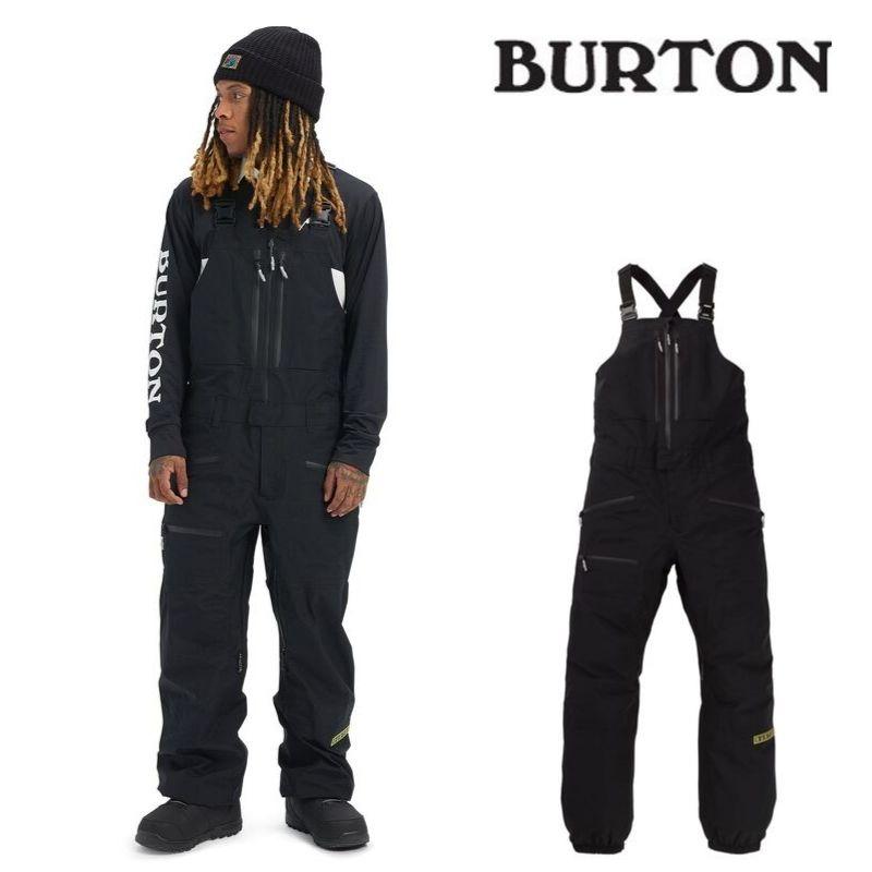 【日本正規品】 バートン 2020年モデル メンズ ウェア Burton GORE-TEX 3L Frostner Bib Pant True Black ゴアテックス フロストナー ビブパンツ 黒