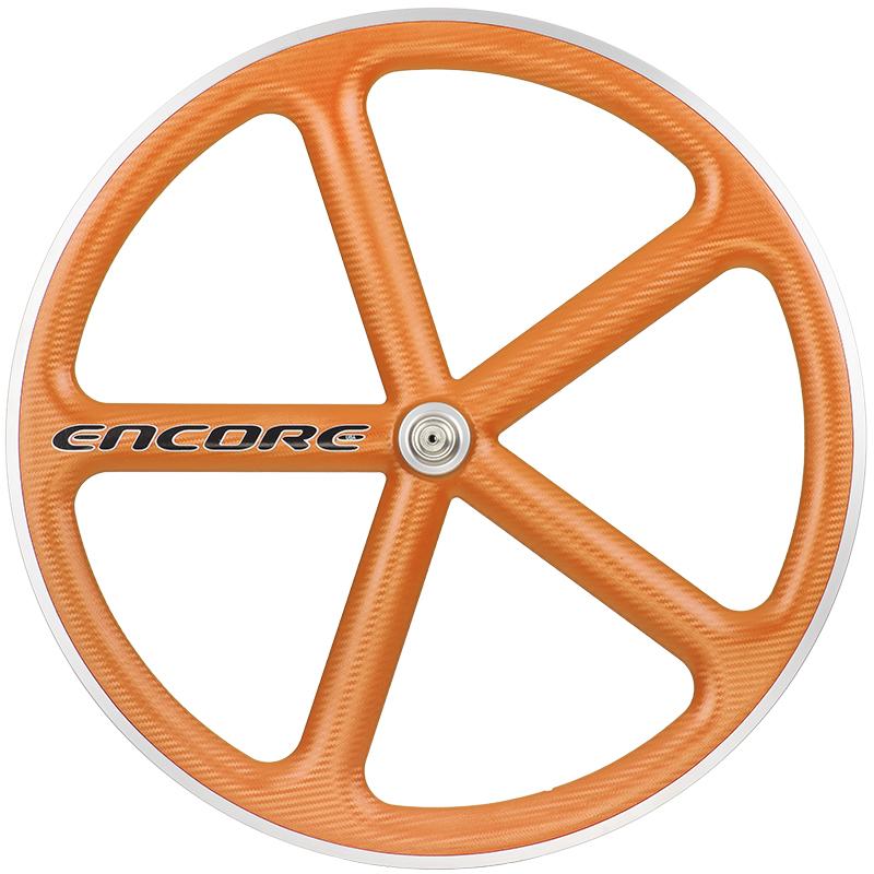 ピストバイク ホイール ENCORE WHEELS 700C FIXED GEAR WHEEL ORANGEアンコール ホイール 700C フィックスドギア ホイール オレンジ PISTBIKE
