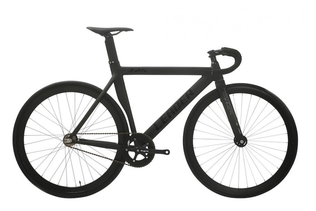 ピストバイク 完成車 LEADER BIKES 725TR COMPLETE BIKE BLACK リーダー バイク【自転車 バイク スポーツバイク 完成品 アルミ 軽量 カスタム カスタムバイク ベース フリーギア 固定ギア 初心者 シンプル おしゃれ 黒 ブラック】