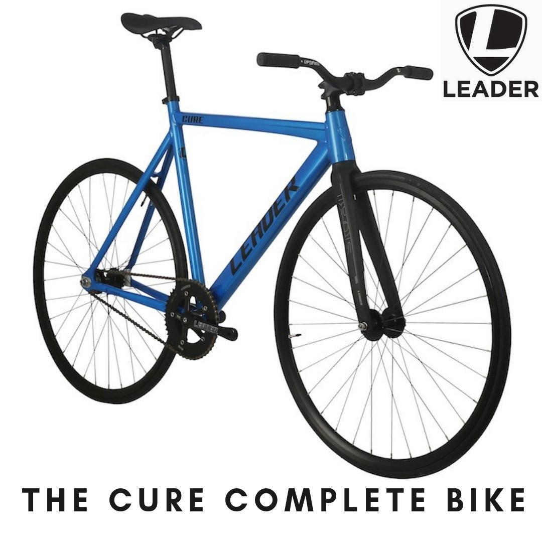 ピストバイク 完成車 LEADERBIKE The Cure Candy Blue リーダーバイクス 【自転車 バイク スポーツバイク 完成品 アルミ 軽量 カスタム カスタムバイク ベース フリーギア 固定ギア 初心者 シンプル おしゃれ 青 ブルー】