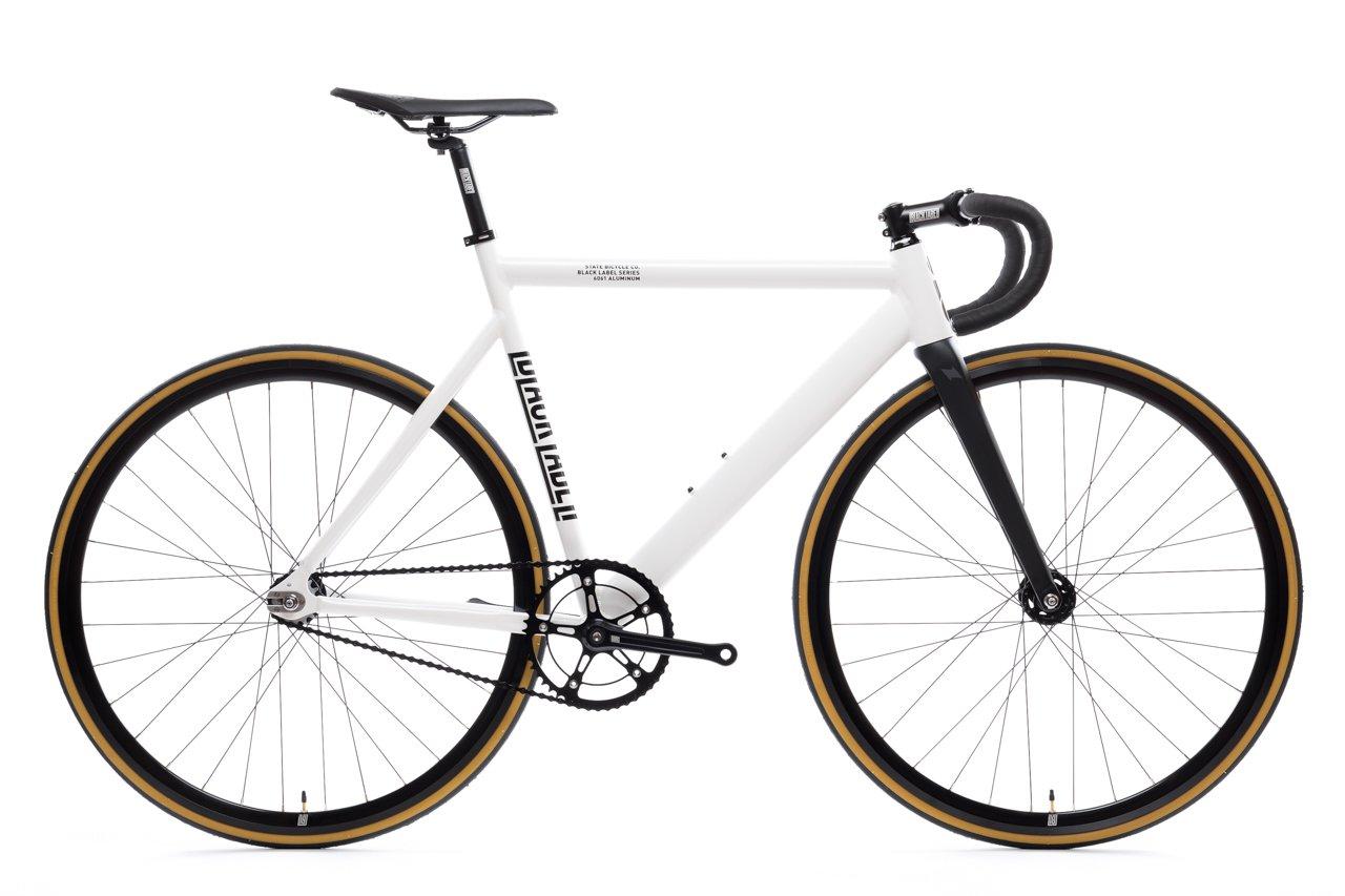 ピストバイク 完成車 STATEBICYCLE 6061 BLACK LABEL V2 PEARL WHITE ステイトバイシクル 6061 ブラックレーベル V2 ピジョングレー PISTBIKE
