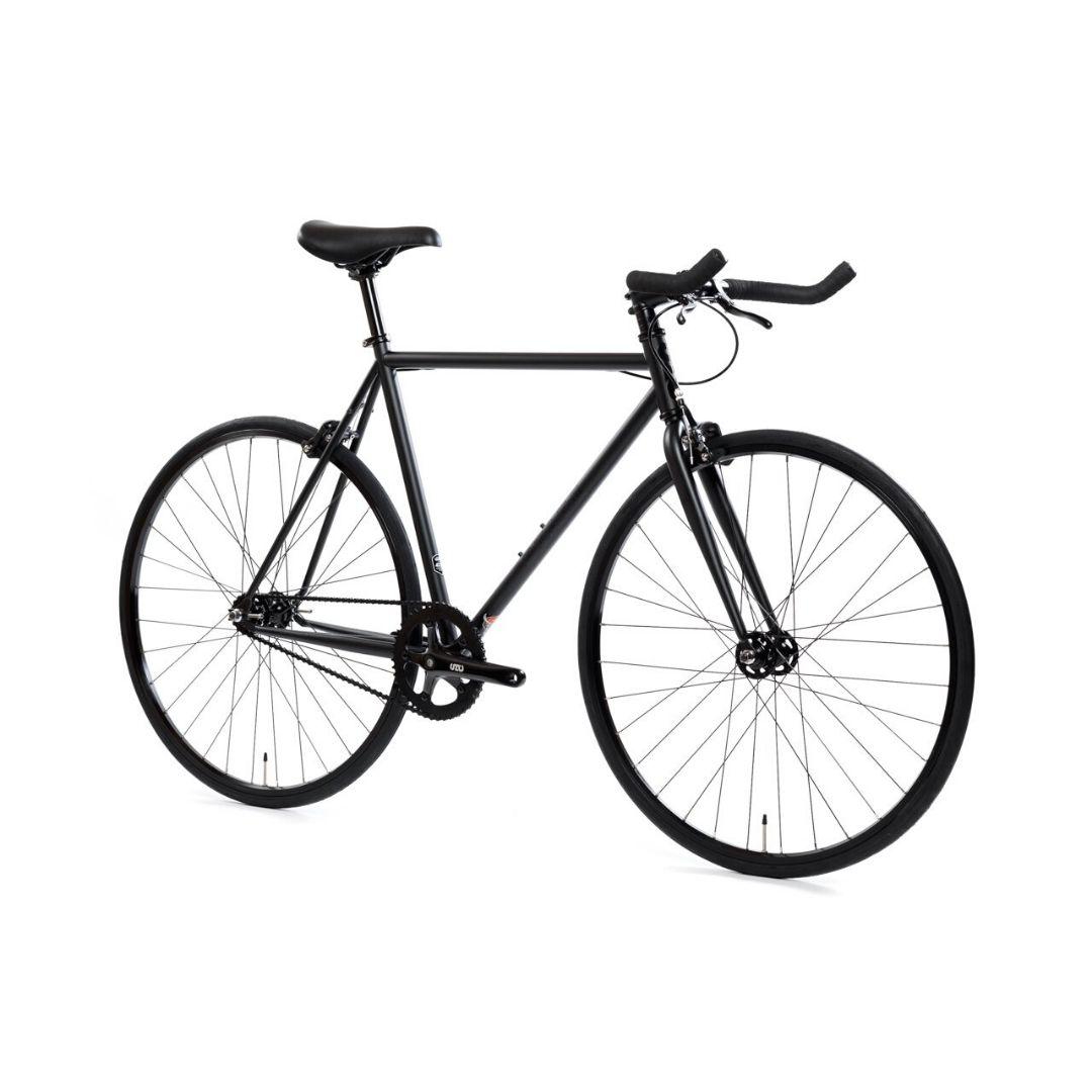 ピストバイク 完成車 STATE BICYCLE 4130 THE MATTE BLACK PISTBIKE【自転車 バイク スポーツバイク 完成品 クロモリ 軽量 カスタム カスタムバイク ベース フリーギア 固定ギア 初心者 シンプル おしゃれ 黒 ブラック】