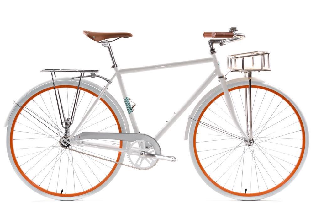 ピストバイク 完成車 State Bicycle Delray Deluxe Bicycle White【ステイトバイシクル デルレイ デラックス】 PISTBIKE