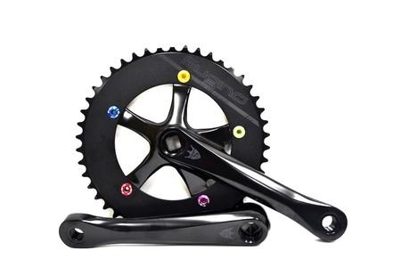 ピストバイク クランクセット SUGINO スギノ COOL-MESSENGER Black175mm & CBB-AL ボトムブラケット103mmセット クールメッセンジャー ブラック175mm& ボトムブラケット103mmセット PISTBIKE