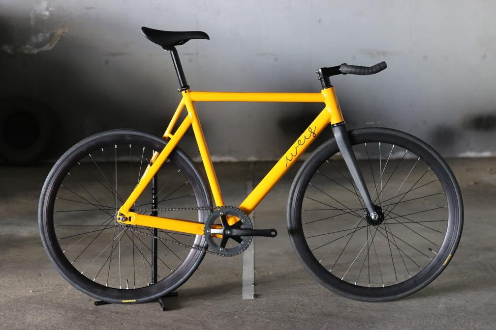 ピストバイク 完成車 Weis Manufacturing Hammer Aluminum YELLOW ウェイス マニュファクチャリング ハマー アルミニウム コンプリートバイク イエロー PISTBIKE