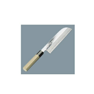 安売り 送料無料 薄刃庖丁 鎌型 19.5cm 激安セール 鏡面仕上 兼松作