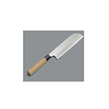 送料無料 薄刃庖丁 驚きの値段で 送料無料お手入れ要らず 鎌型 21cm 銀三鋼 兼松作