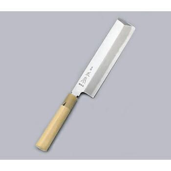 送料無料 秀逸 薄刃庖丁 格安SALEスタート 東形 本霞 18cm 正本 玉白鋼