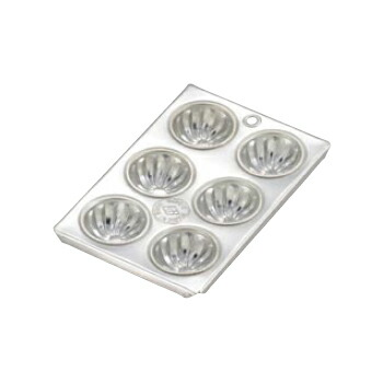 日本全国 送料無料 マフィン型 送料無料激安祭 小 菊型 ブリキ 6カップ