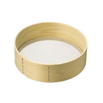 粉フルイ 木枠 ステン張 24メッシュ 高級品 モデル着用&注目アイテム 27cm 9寸