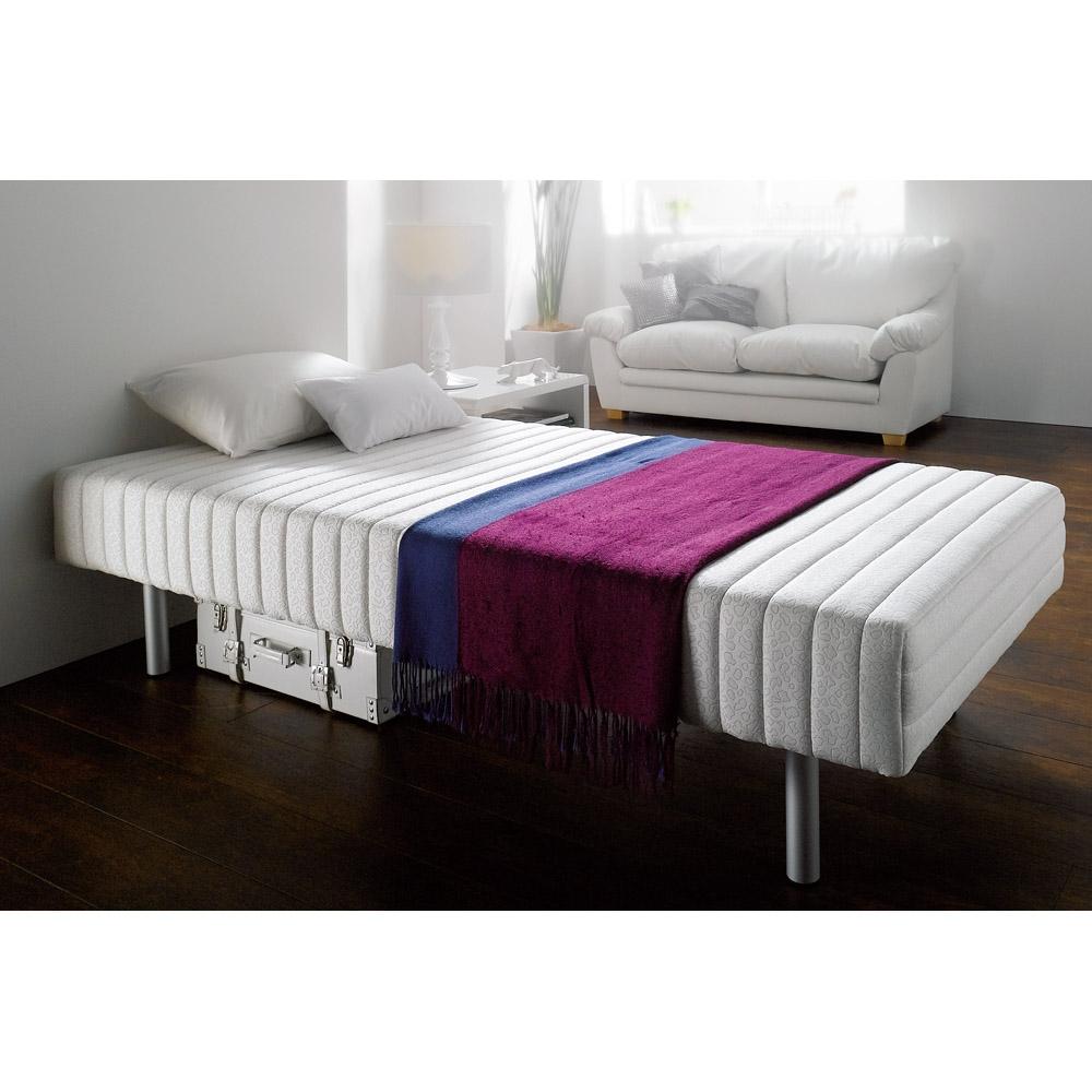 楽天市場】軽くて丈夫なフランスベッド脚付きマットレスベッド シングル