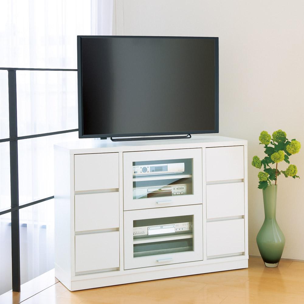 角度が自由自在の収納充実コーナーテレビ台 高さ70cm LR0203