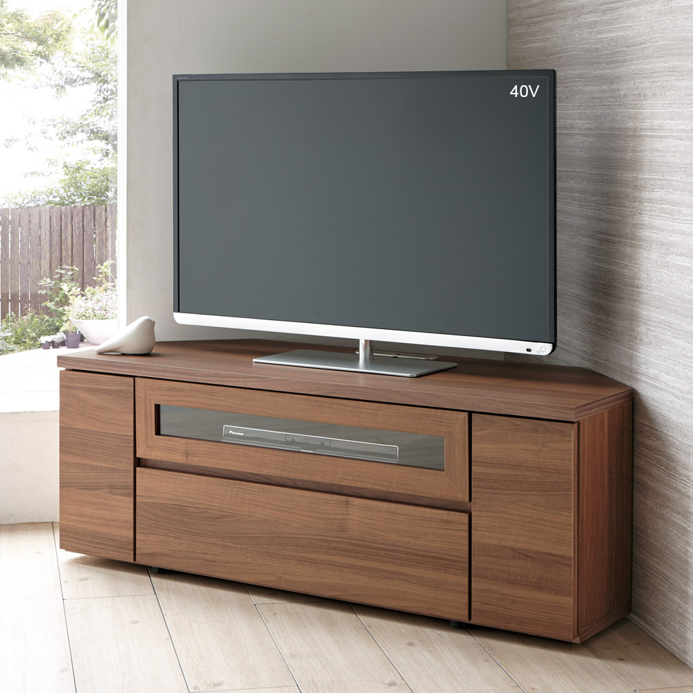 天然木調お掃除がしやすいコーナーテレビ台 幅120cm LR0205