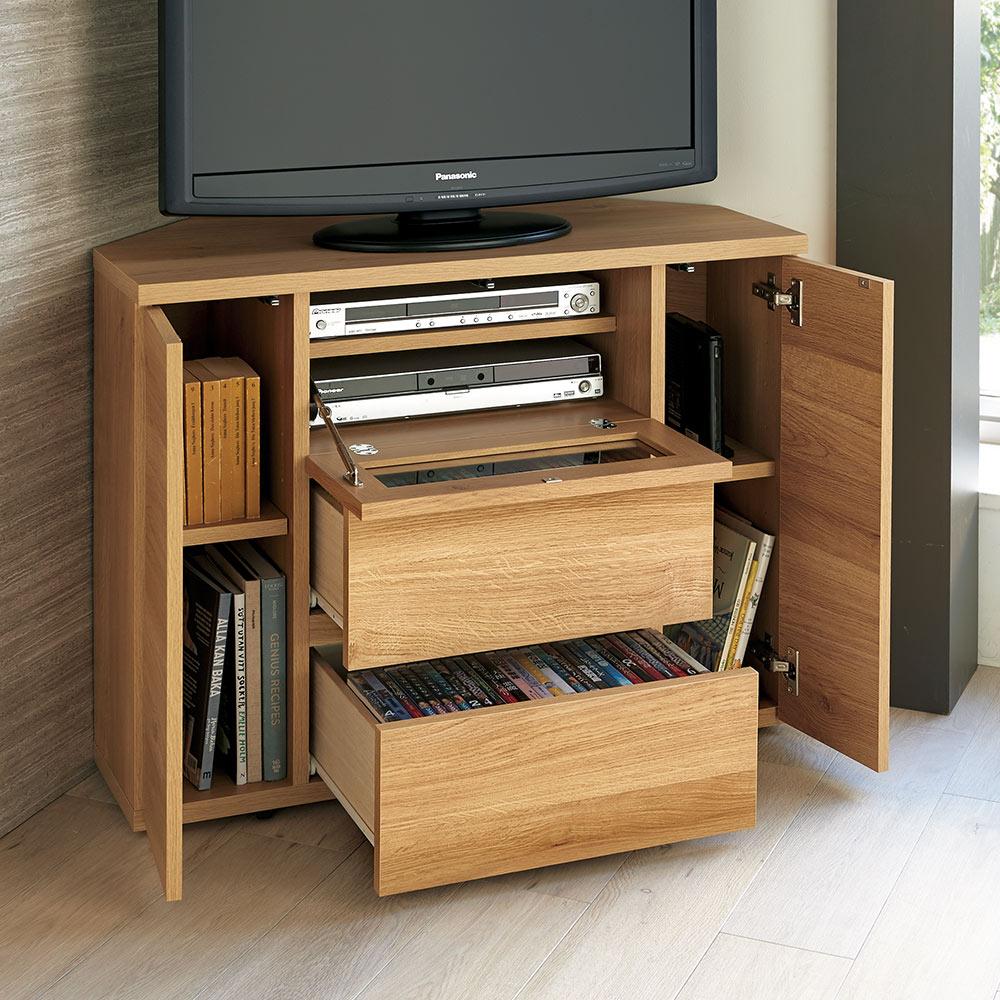 【在庫僅少】 天然木調お掃除がしやすいコーナーテレビ台 ハイタイプ ハイタイプ LR0206 幅90cm LR0206, ツグムラ:f06f889b --- blablagames.net