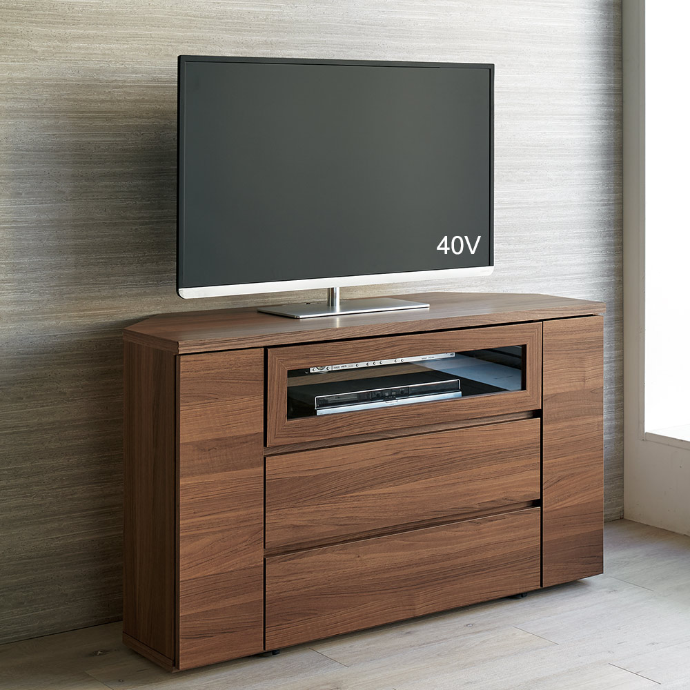 天然木調お掃除がしやすいコーナーテレビ台 ハイタイプ 幅120cm LR0207